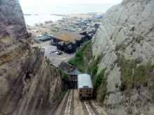 Hastings, East Cliff Railway, Sussex © Helmut Zozmann